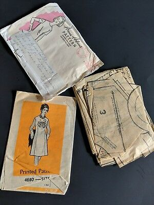 Vintage 1960s Anne Adams Sewing Pattern #4680 Sz 44 Dress
