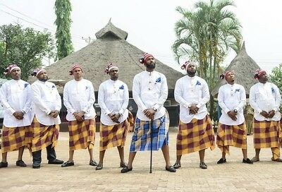 Ikenna Handmade Igbo Traditional Wool Cap Groomsmen Tribal Festival Coronation