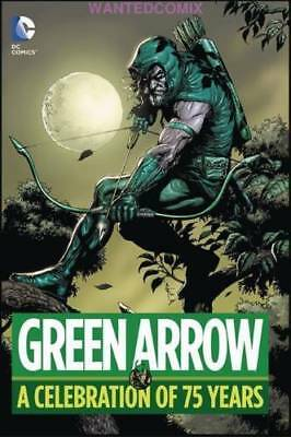 Green Arrow A Celebration Of 75 Years Hardcover Dc New 1 Free Shipping Lantern 2