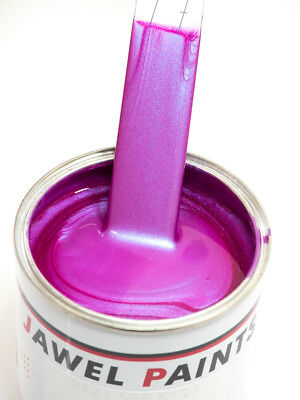 Custom Car Paint Pink To Blue Flip Pearl Polyester Basecoat 1Litre