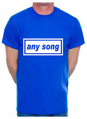 Personalised Adult T-Shirt Any Song Name Or Football City Name You Choose