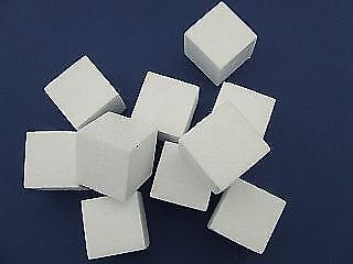 10 40mm Polystyrene Cubes to Decorate | Styrofoam Shapes for Crafts
