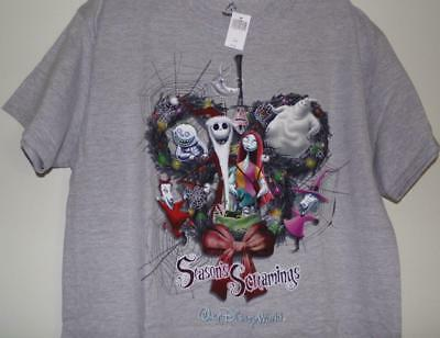 NWT Disney Parks WDW Nightmare Before Christmas Wreath Adult Large T-Shirt