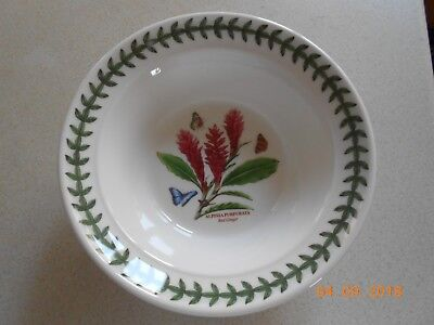Portmeirion Exotic Botanic Garden Cereal / Oatmeal Bowl - 6.5 Inch Red Ginger