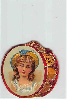 jwk 04a: WEIR STOVE CO. , Beautiful victorian lithograph trade card