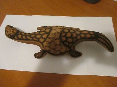 Aboriginal Wood Carving of Lizard 33cm Long