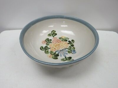 Large Louisville Stoneware Country Flower Bowl Salad Mixing 3995M