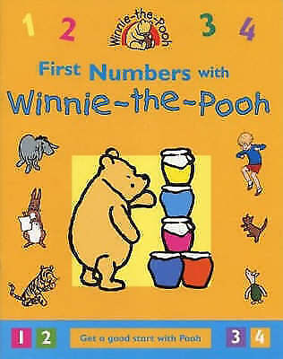 First Numbers With Winnie The Pooh - Learning Activity Book Age 3+ Paperback New