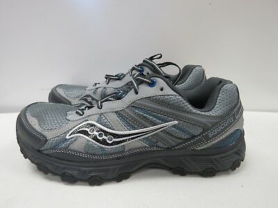 43949373 MENS SAUCONY GRID ESCAPE TR2 GRAY BLUE RUNNING SHOES SIZE 9.5 W i300 ...