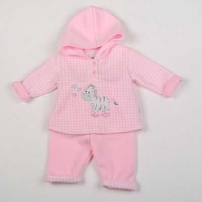 Baby Girls Clothes Hooded Top Trousers Aardvark Fleece Pink Newborn 0-3 m 3-6 m