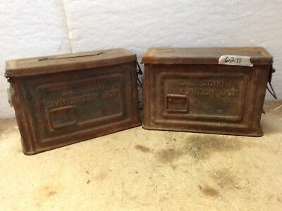 """Vintage AMMUNITION Box. CAL.30ML,  10"""" Wide  and 7"""" Tall   Bundle of 2 Boxes"""