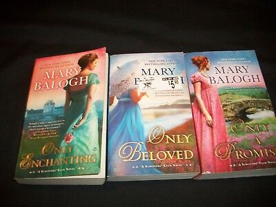 Lot of 3 Mary Balogh Books, Survivor's Club Novels, Historical Romance