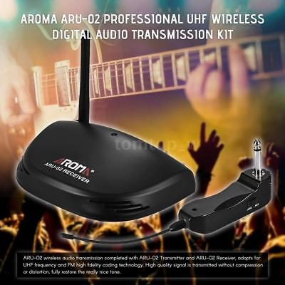 Aroma UHF Wireless Digital Audio Transmission Receiver System for Guitar U2A2