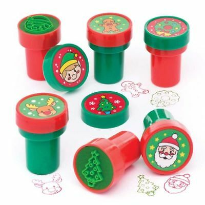 Christmas Theme Ink Stamps Stampers Card Making Stocking Party Bag Filler Design