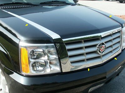 For 2002-2006 CADILLAC ESCALADE 4-door, SUV 4 PC SS Hood Accent Trim