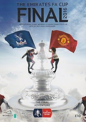 Fa Cup Final 2016 Crystal Palace Man Utd Mint Programme Manchester