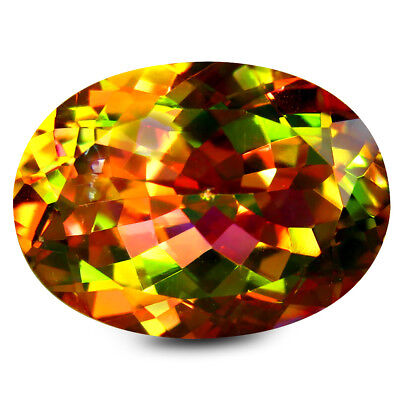 15.08 Ct AAA+ Grand Style Forme Ovale (18 X 13 mm) Multicolore Stellaire Topaze