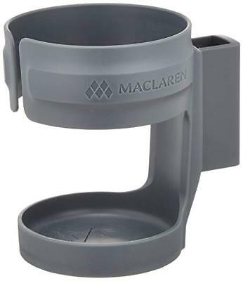 Maclaren Cup Holder, Charcoal - Fits Maclaren and most umbrella buggies NEW