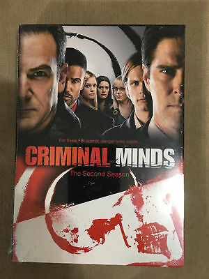 Criminal Minds: The Second Season (DVD, 2007, 6-Disc Set) BRAND NEW AND SEALED