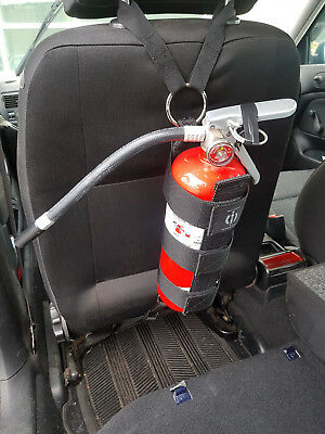 Fire Extinguisher Harness seat back, consumer grade