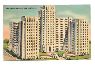 New Charity Hospital, New Orleans, Louisiana Vintage Linen Postcard