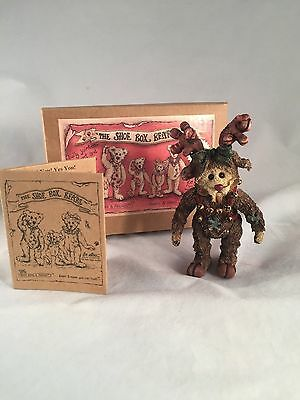 Boyds Bears Shoe Box Bears Ivy Mooselbeary with box and COA