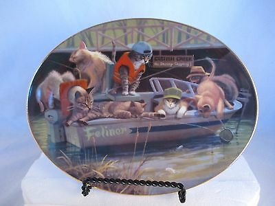 "Franklin Mint ""Cat Fish Creek"" Oval Collector Plate with Box and COA"