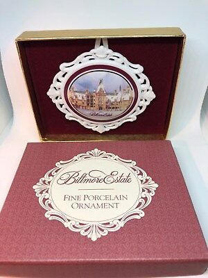 Biltmore Estate Ashville North Carolina Porcelain Christmas Ornament with box