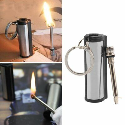 High quality Permanent Match Striker Torch Lighter with Key Chain Silver Metal H