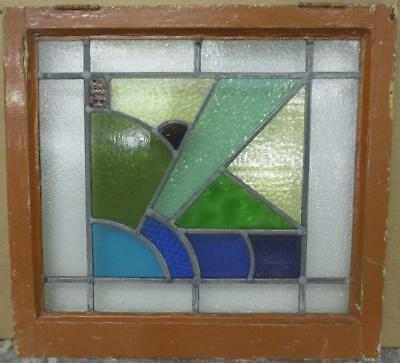 """MID SIZED OLD ENGLISH LEADED STAINED GLASS WINDOW Awesome Abstract 22.5"""" x 21"""""""