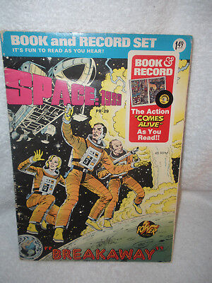 "SPACE:1999  ""BREAKAWAY""  BOOK AND RECORD SET Vintage 1976"