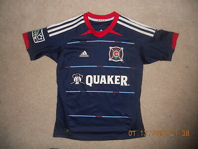 baead227305e6 Chicago Fire MLS Adidas Soccer Jersey ClimaCool Away Style 2012-14 Youth  Medium