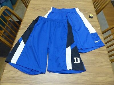 Lot of 2 Nike NCAA Duke Blue Devils Shorts Blue White Men's Size Large and other