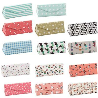 PU Portable Folding Glasses Case Cartoon Eye Glasses Sunglasses Hard Case Box
