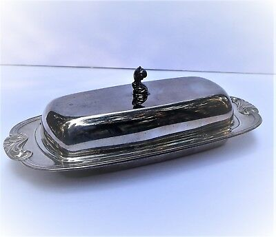 WM A Rogers Silverplate Butter Dish With Lid