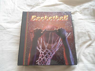 Basketball trading card binder with 50+ pages of pocket sleeves / display folder