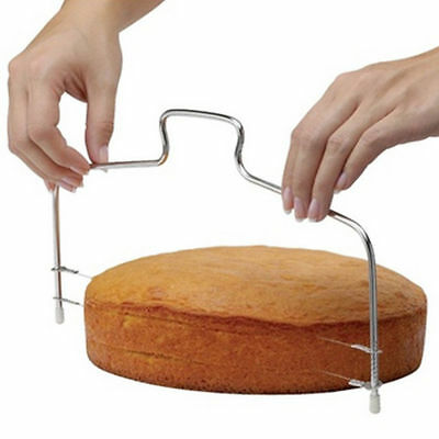 HOT Adjustable Wire Cake Slicer Cutter Leveller Decorating Bread Wire Decor Tool