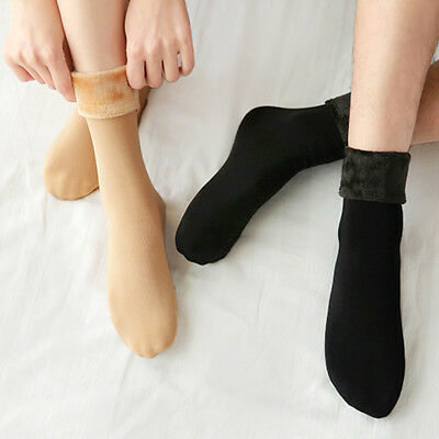 Women Ladies Wool Cashmere Fleece Thicken Thermal Soft Casual Solid Winter Socks