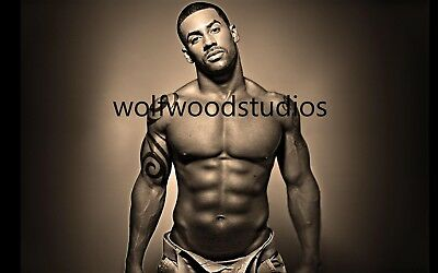 Hot Sexy African American Black Buff Muscular Male Model Publicity Photo