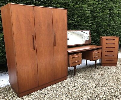 Fine Retro Teak G Plan 3 Piece Bedroom Suite Clean Condition Delivery Available