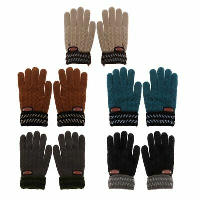 Toddler Kids Girl&Boy Baby Infant Warm Winter Knitted Full Finger Gloves Mittens
