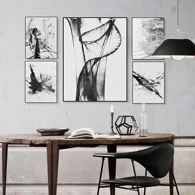 Modern Abstract Ink Line Poster and Print Nordic Home Decor Art Canvas Paintings