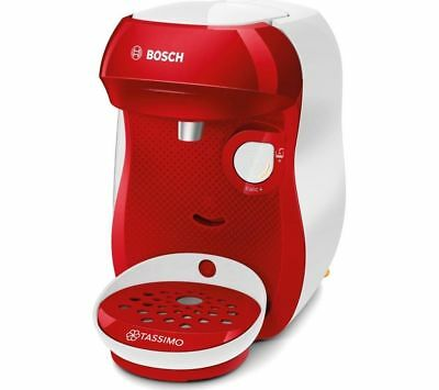 TASSIMO by Bosch Happy TAS1006GB Coffee Machine  Red & White