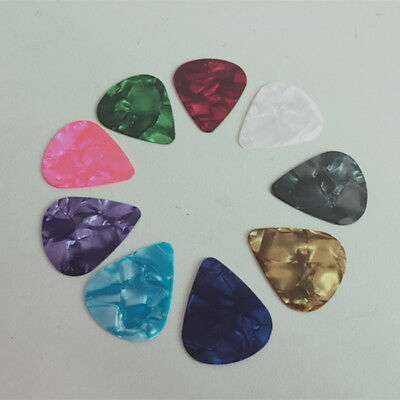 10PCS Custom Acoustic Electric Guitar Celluloid Picks Plectrums Colorful GTC-A