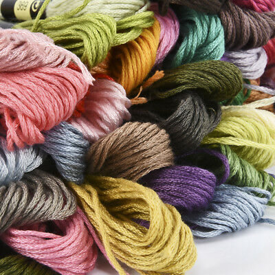 Multi Colors Cotton Cross Floss Stitch Thread Embroidery Sewing Skeins 8M