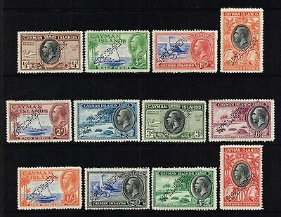 Cayman Islands 1935 King George V set perf. Specimen, MH (SG#96s/107s)
