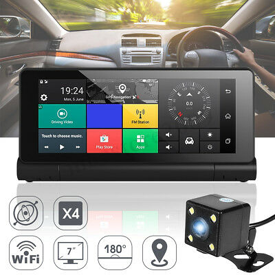 US 7'' 1080P Android Wifi Foldable Car Truck DVR Dash Cam ️GPS Recorder G-sensor
