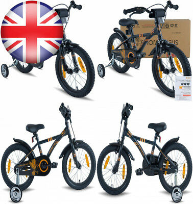 fc804a7bf7a PROMETHEUS Kids bike 16 inch Boys and Girls in black Matt   Orange with.