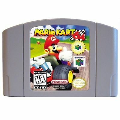 Mario Kart 64 Video Game Cartridge Card AU version For Nintendo N64 Game PAL