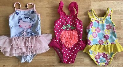 Bundle baby girls swimming costumes 12-18 months next tutu mothercare floral spo